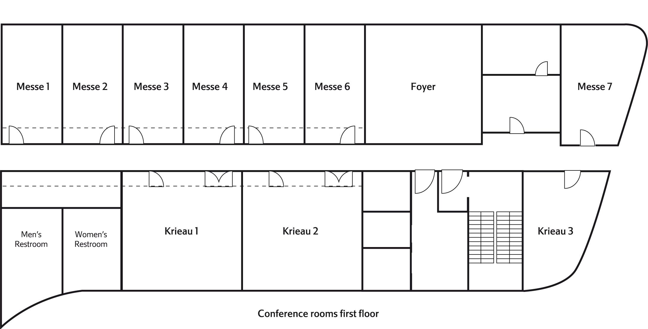 Floor plan first floor Courtyard by Marriott Wien Prater/Messe