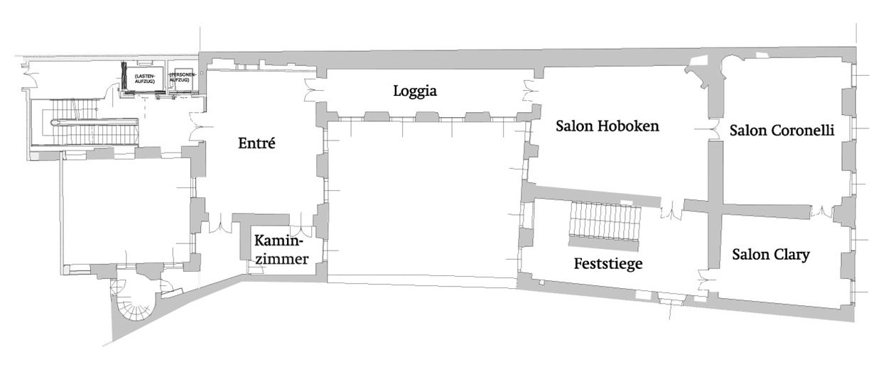 Floor plan Nationalbibliothek im Palais Mollard