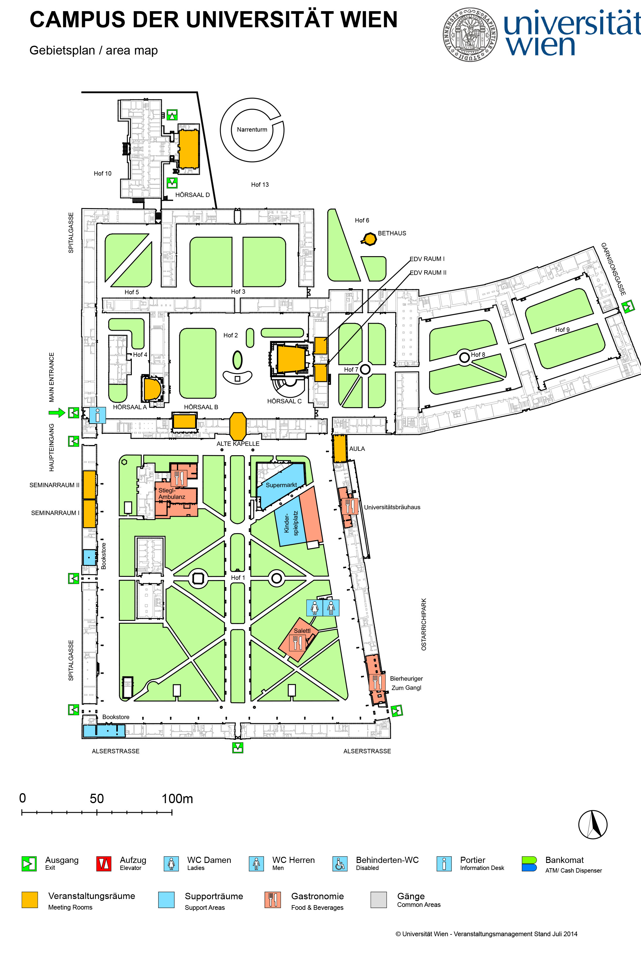 Area map Campus