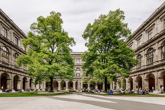 Arcaded Courtyard in the University of Vienna