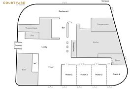 Floor plan ground floor Courtyard by Marriott Wien Prater/Messe