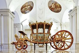 The Golden Carriage in the Sala Terrena