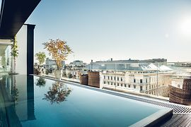 Rooftop Pool for Hotel Guests and Club Members