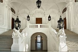 Upper Belvedere grand staircase 1