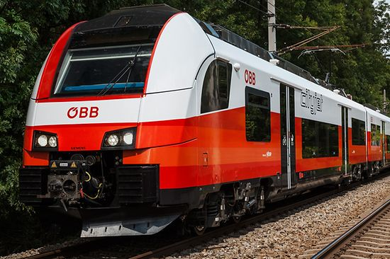 ÖBB Cityjet - train in red and white colors