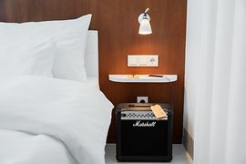 Room with Marshal Amp