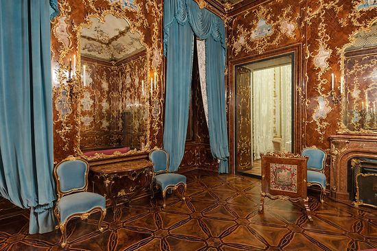 One of the state rooms at the Schloß Schoenbrunn