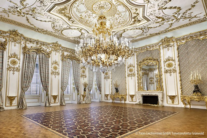 Square Room in the Liechtenstein CITY PALACE