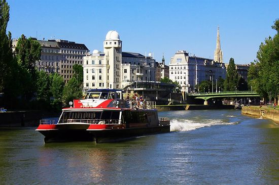 Twincity liner on the danube canal
