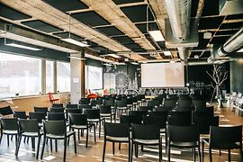 Conference room with theatre style set-up